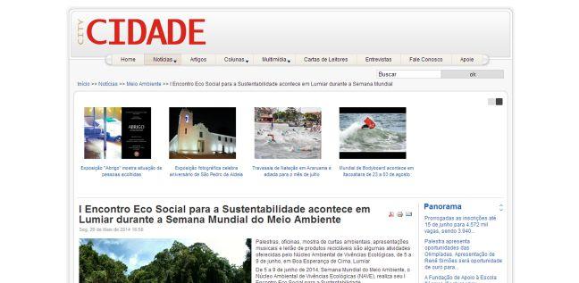 Clipping Revista Cidade City I Encontro Eco Social para a Sustentabilidade