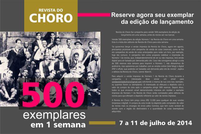 campanha 500 exemplares em 1 semana