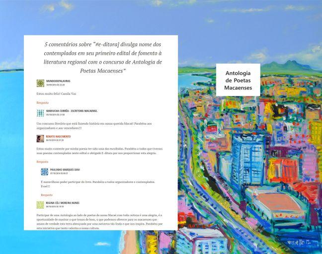 Depoimento de cinco poetas macaenses contemplados pelo Edital de Fomento à Literatura Regional da #e-ditora].